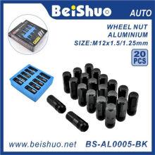 20PCS / Set Racing M12X1.25 Кованые алюминиевые гайки колесных колес