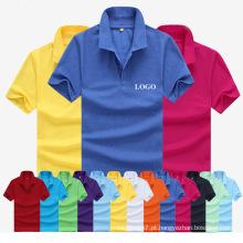 Preço de atacado mais barato de fábrica Plain Polo T-Shirt