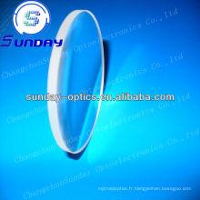 Verres ménisques en verre optique, lentille ménisque bk7, revêtu AR