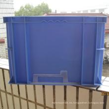 Envase de plástico apilable con colores pantong-Azul