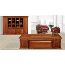 Classical Solid Wood Office Executive Boss Desk Furniture (HF-YM8A02)