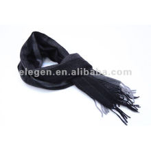 100% CASHMERE HECHO TEJIDO DYED STRIPED PATTERN SCARF