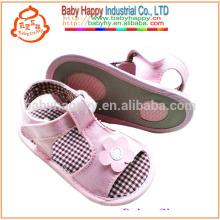 2016 nouveau bébé sandales pourpre pu chaussure pour bébé