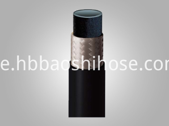 Two-layers Rubber Hose Fiber Braided