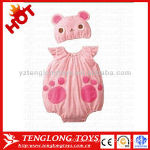Billig 2015 neueste Design schöne rosa Katze weichen Baby Mädchen Spielanzug