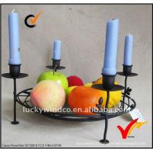 Оптовые продажи Винтаж антикварные ручной пол стоя металла держатель свечи
