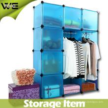 Gabinete de almacenamiento simple de la exhibición del plástico de DIY