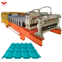 2020 metal Bamboo glazed tile roofing roll forming machine made in china
