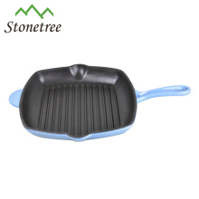 High-end Double Pouts Cast Iron Grill Pan