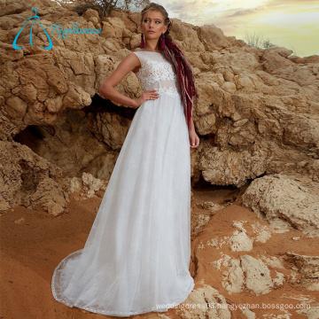 Sheath Sleeveless Lace Appliques 2017 Sexy Wedding Dresses