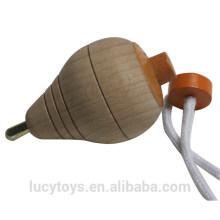 Klassisches Spielzeug traditionelles hölzernes spinnende Spitzenspielzeug