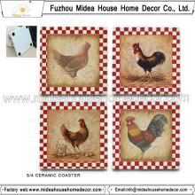 China Factory Custom Ceramic Coaster