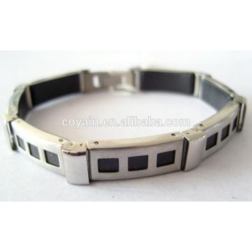 La fábrica modifica para requisitos particulares la pulsera del acero inoxidable de los hombres de la alta calidad
