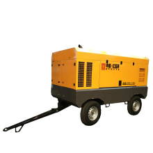 13 bar four wheel mining diesel air compressor
