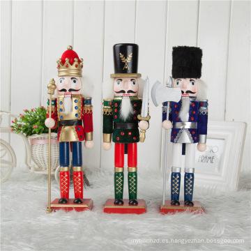FQ marca gigante al aire libre navidad cascanueces decoración boutique al aire libre gigante de madera cascanueces ornamentos