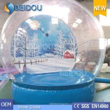 Foto de Navidad gigante duradera Globo de nieve humana Nieve inflable domo