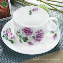 Modern ceramic tea cup and saucer bulk cheap