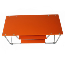 Metal Frame Tempered Glass Shelf TV Stand