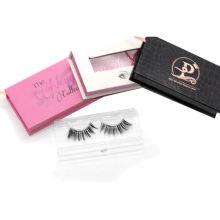 864T Hitomi Custom Eyelash Box Manufacturer High Quality Individual Mink Eyelash Clear Band Luxury Real Fluffy 3D Mink Eyelashes