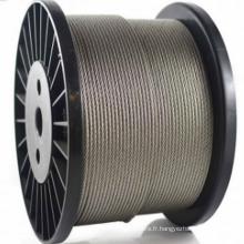 Corde en acier inoxydable 6X19 + FC Dia1.5mm à 28mm