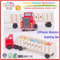 New Educational Wooden Truck Toy, Custom Logo Kids Transport Truck Toy, Kindergarten Children Super Wooden Toy Truck
