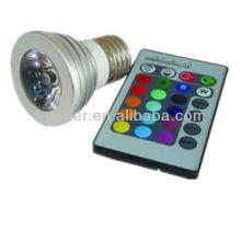 Changement de couleur 3w led rgb spot light e26 e27 gu10 led spot spot rgb