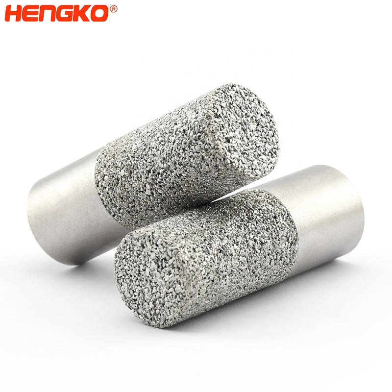 HNEGKO High quality sintered porous stainless steel waterproof sensor housing 60-90 microns for dew point sensor enclosure