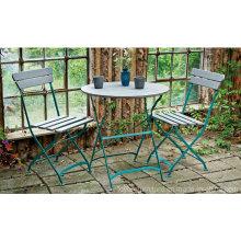 Garden Patio Metal Folding Table Chair Furniture for Outdoor Hotel Lawn Backyard Porch Beach