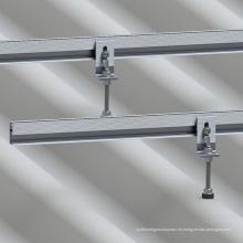 Sistema de montaje de techo corrugado de techo de chapa metálica Estante de metal