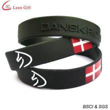 Cheap Custom Silicone Wristband Enamel Silicone Bracelet (LM1628)