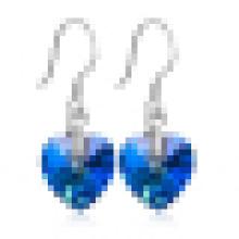 Frauen Herz aus Ozean Sterling Silber Ohrringe