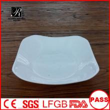 Square deep ceramic plate unique dinner /soup /salad plate
