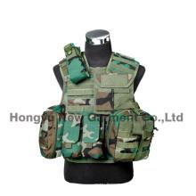 Airsoft Tactical Vest Military Combat Vest avec étui à pistolet (HY-V062)