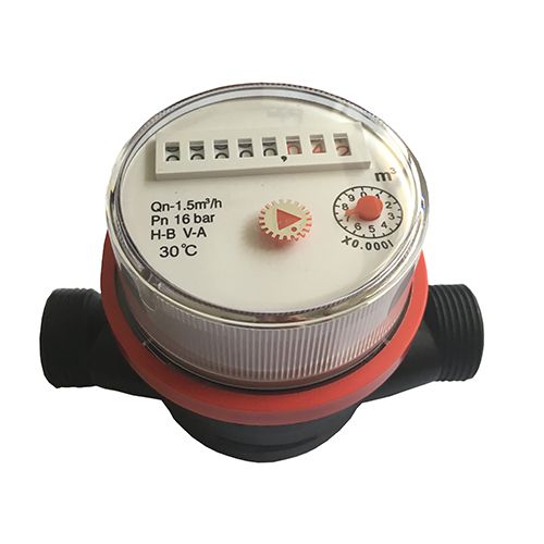Dry Dial Single Jet Vane Wheel Plastic Hot Water Meters with low Costs