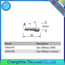 whole sale binzel welding tip 501D mig gas diffuser
