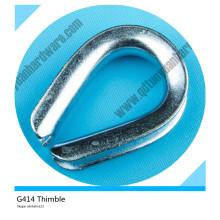 G414 Galvanized Us Type Q235 Steel Heavy Duty Thimble
