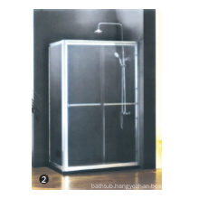 Tempered glass continuous hinge shower door