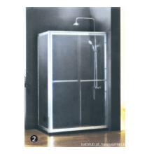 Vidro temperado porta de chuveiro de dobradiça contínua