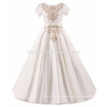 High Quality Elegant Children's Boutique Clothing Embroidery Satin Fairy Spanish Flower Girl Dress