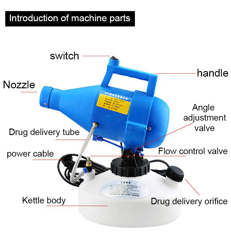 electrostatic fogging machine