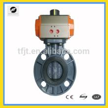 CWX-Vanne d'actionneur pneumatique wafer type sanitaire sanitaire pneumatique vannes papillon