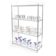 Multi Tiers Decorative Storage Wire Shelving, Wire Shelves, Storage Shelf (HD186086A4C)