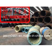 Fio de aço, fio de aço da mola, fábrica elevada do fio de aço do carbono