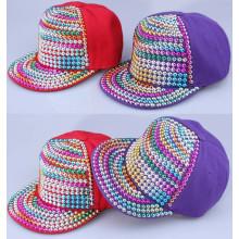 Colores sólidos moda remache snapback rock punk cap sombrero