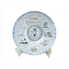 Matériel en métal et plaques en métal de type or gros cadeau de souvenir touristique