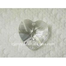 Kristall Herz Anhänger, Kristall Perlen