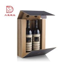 Hergestellt in China recycelbaren Wein Papier schwarz Geschenkbox Verpackung