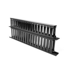 """1u 19"""" Plastic Dual-Sided Rack Mount Horizontal Cable Manager"""