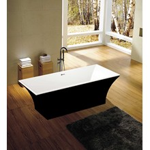 Black Square Freistehende Einweichen Badewanne