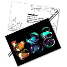 2015 nueva tarjeta de presentación del nombre Lenticular 3D